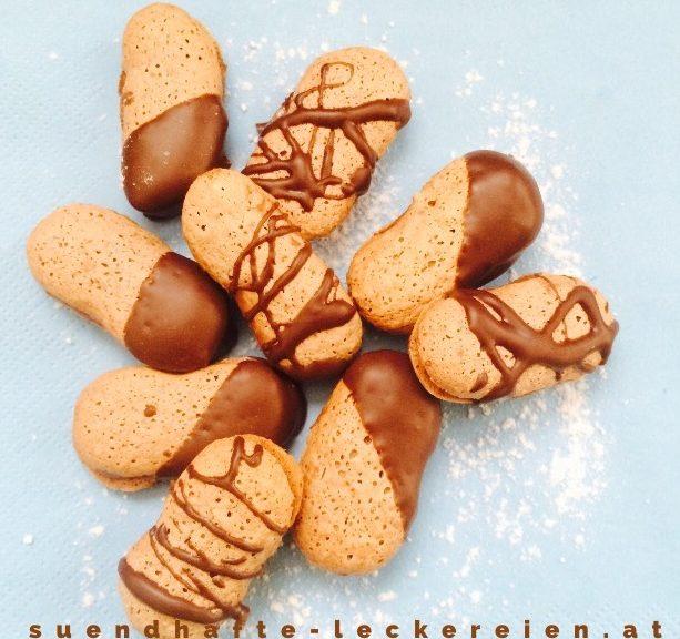 Mandelzungen mit Nutella
